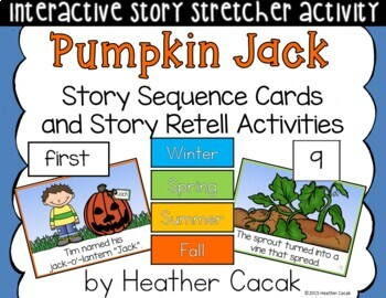 Pumpkin Jack Story Sequence and Retelling Cards (Math Science Literacy)