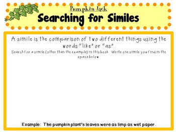 Pumpkin Jack  by Will Hubbell:   A Complete Literature Study!