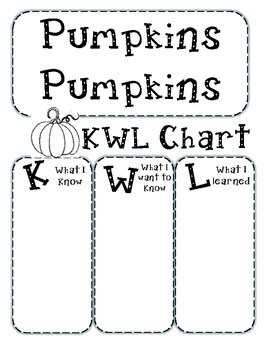 Pumpkin KWL Chart