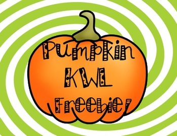 Pumpkin KWL Freebie!