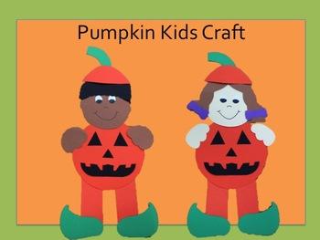 Pumpkin Kids- A Halloween Craft