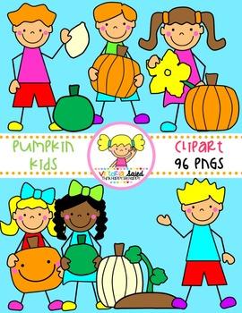 Pumpkin Kids Clipart {Life Cycle}