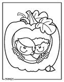 Pumpkin Kids Coloring Page