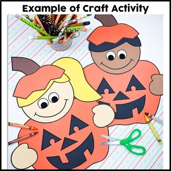 Pumpkin Kids Cut and Paste