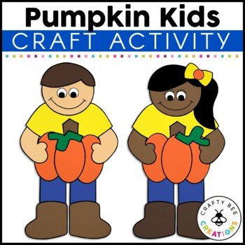 Pumpkin Kids Cut and Paste