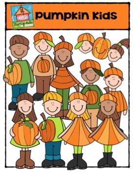 Pumpkin Kids {P4 Clips Trioriginals Digital Clip Art}