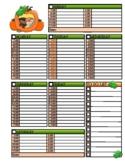 Pumpkin Kids Weekly Planner
