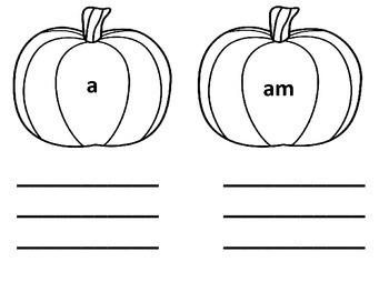Pumpkin Kindergarten Sight Words