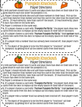 Pumpkin Knockout: A Reading Fluency Game