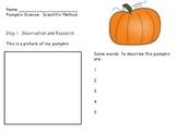 Pumpkin Lab using Scientific Method