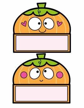 Pumpkin Labels for the Classroom {Editable}