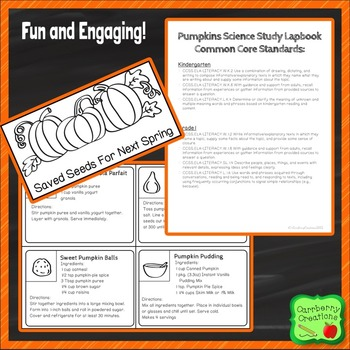 Pumpkin Activities Lapbook