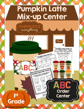 ABC Order Pumpkin Fall Themed Literacy Activity