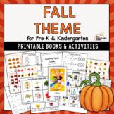 Pumpkin, Leaf, & Apple Theme for Preschool & Kindergarten