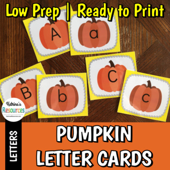 Pumpkin Letter Cards for Matching Activities & More