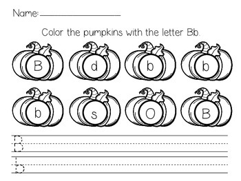 Pumpkin Letter Identification