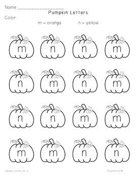 Pumpkin Letter Identification FREEBIE