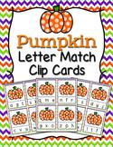 Pumpkin Letter Match Clip Cards