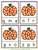 Pumpkin Letter Match Clip Cards