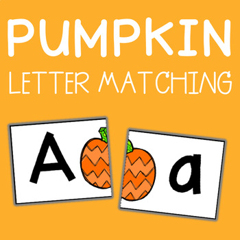 Pumpkin Letter Matching Cards