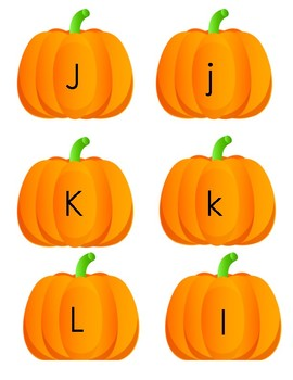 Pumpkin Letter, Number, and Shape Match