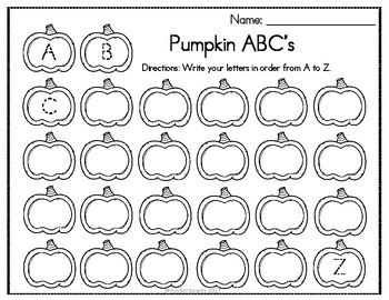 Pumpkin Letter Printables