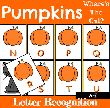 Pumpkin Letter Recognition Center or Whole Group Game for Halloween