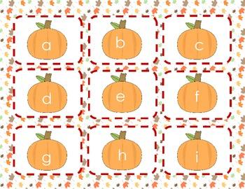 Pumpkin Letter Recognition Game