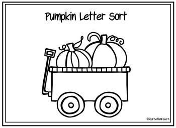 Pumpkin Letter Sort