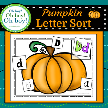 Pumpkin Letter Sort - S