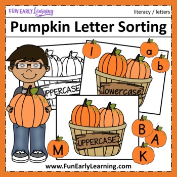 Pumpkin Letter Sorting - FREE Literacy Activity