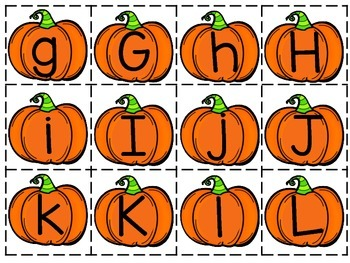 Pumpkin Letter-Sound Game