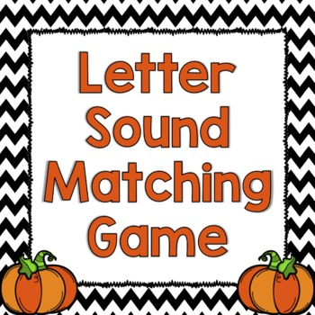 Pumpkin Letter Sound Matching Game