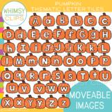 Pumpkin Letter Tile Clip Art {MOVEABLE IMAGES}