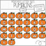 Pumpkin Letter Tiles (Moveable Clipart) by Bunny On A Cloud