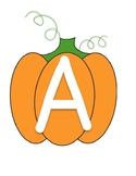 Pumpkin Letter Tracing