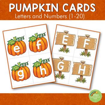 Pumpkin Letter and Number Cards