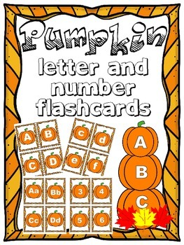 Pumpkin Letter and Number Flashcards