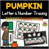 Pumpkin Letter and Number Tracing Printables
