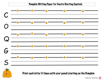 Pumpkin Letter writing paper HWT Centre Starting Capitals