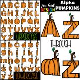 Alphabet Letters Clip Art - Pumpkin Letters {jen hart Clip Art}