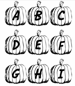 Pumpkin Letters - Printable - Large and Small
