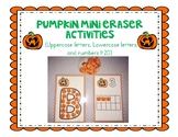 Pumpkin Letters and Numbers for mini erasers