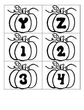 Pumpkin Letters and Numbers - Printable