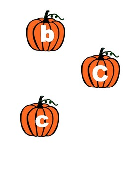 Pumpkin Letters and Sounds