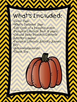 Life Cycle of a Pumpkin Book, Activty, and Assessment