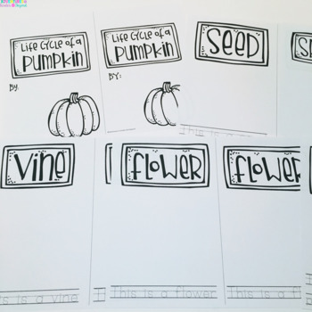 Pumpkin Life Cycle- Cards,Sequencing Activities and Book