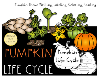 Fall Pumpkin Life Cycle 2 Books, Label, Write, Read, Trace