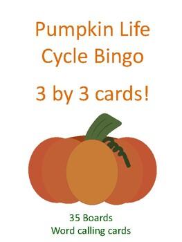 Pumpkin Life Cycle 3 by 3 BINGO!