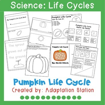 Pumpkin Life Cycle Adapted Unit for Special Education